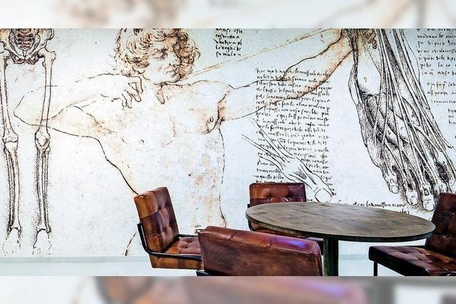 Da Vinci an der Wand