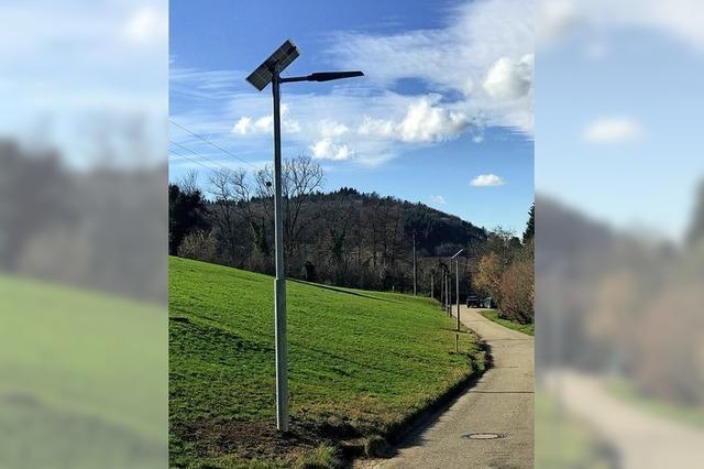 Solarbetriebene Laternen für Wildtal