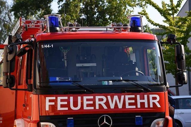 Feuerwehr muss in Lörrach wegen einer brennenden Waschmaschine ausrücken