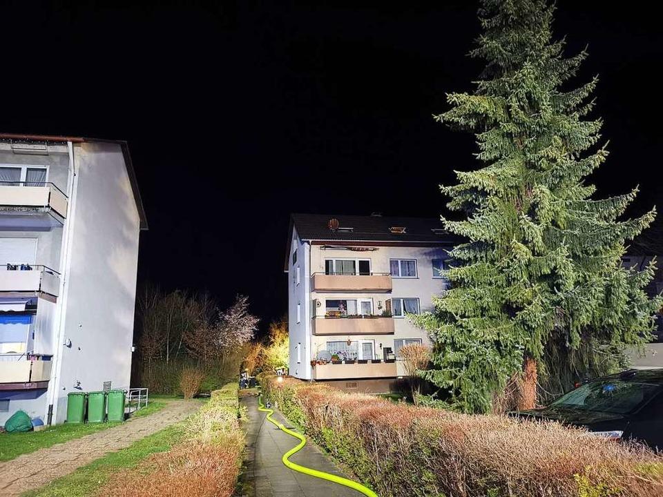 Der Brandort war nur schwer zu erreich...cht. Das erschwerte die Löscharbeiten.  | Foto: Patrick Müller