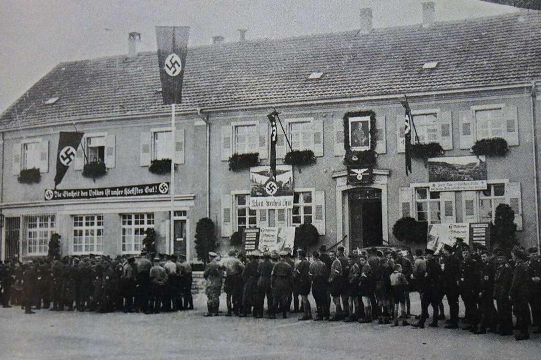 Hitlerjugend und SA-Einheiten  beim Br...eister empörte Karl Häußner besonders.  | Foto: Ortschronik Brombach