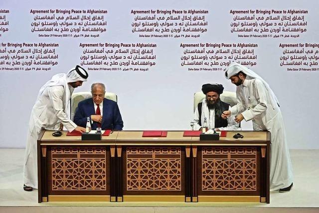 USA und Taliban unterzeichnen Abkommen über Wege zum Frieden