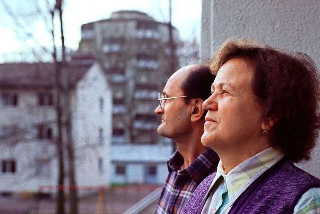 Viele Menschen aus der ehemaligen Sowj...lem in den Wohngebieten der Weststadt.  | Foto: Michael Bamberger