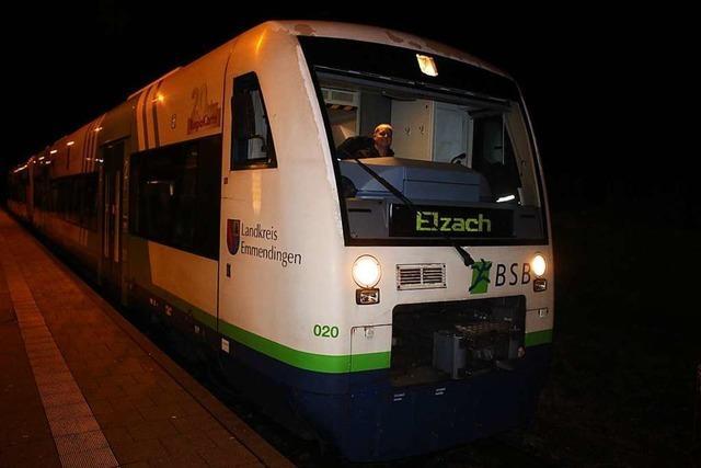 Letzte Fahrt der Diesel-Lok der Breisgau-S-Bahn nach Elzach