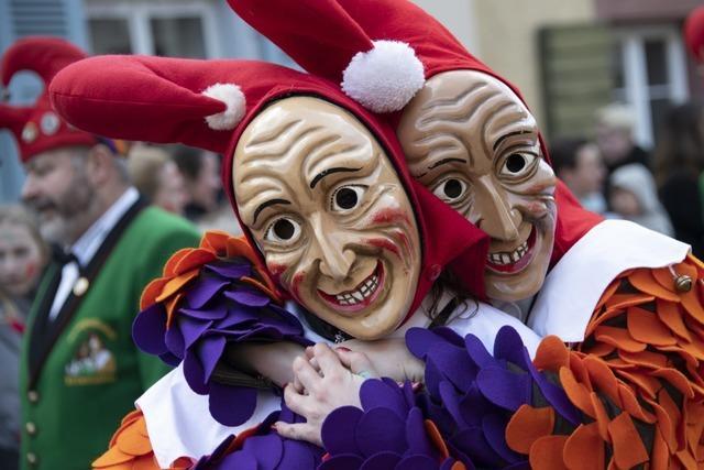 Narren feiern beim großen Sulzbachtal-Umzug