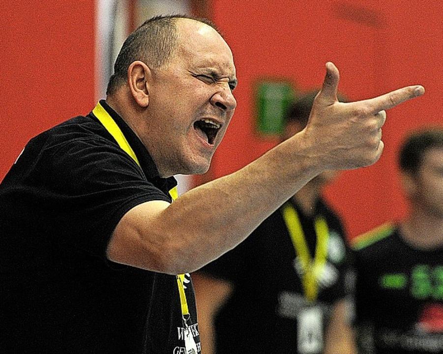HGW-Coach Michael Bohn durfte sich sich ärgern.   | Foto: Pressebüro Schaller
