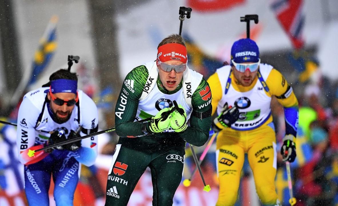 Ein Foto aus besseren Tagen: Wenn die ...  und er läuft an der Medaille vorbei.  | Foto: Sven Hoppe