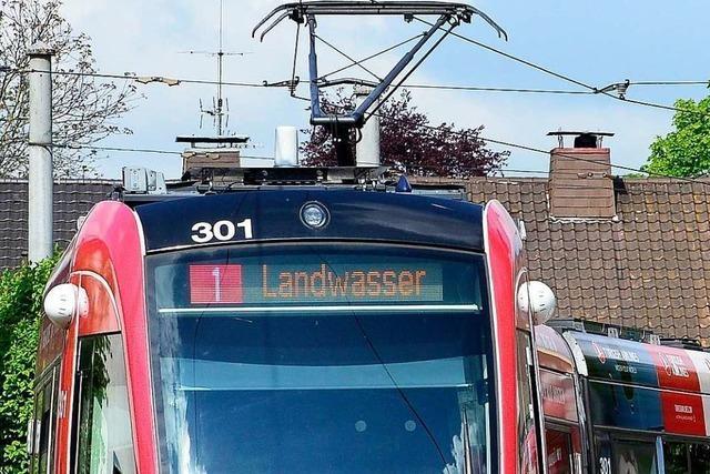 Oberleitungsschaden unterbrach Tram-Linie 1 Richtung Freiburg-Landwasser