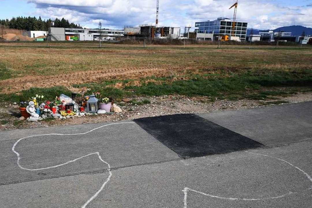 Der Tatort am Rande des Gewerbegebiets Haid.  | Foto: Patrick Seeger (dpa)