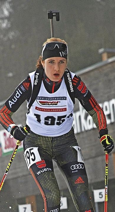 Emilie Behringer: gut im Laufen, nicht so gut beim Schießen  | Foto: ruoff