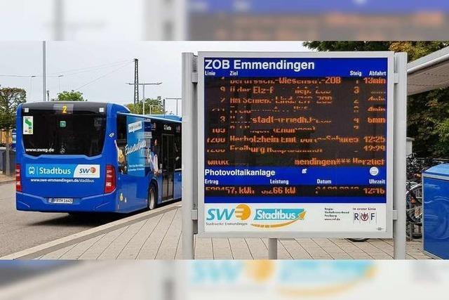 Stadtbus Emmendingen zu Stoßzeiten im 20-Minuten-Takt