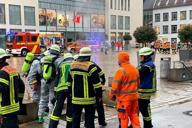 Elektroverteiler mit Starkstromanschluss stand in Offenburger Zentrum unter Wasser