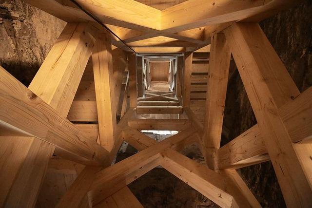 Die Kirche in Allmannsweier hat eine neue Treppe zu den Glocken