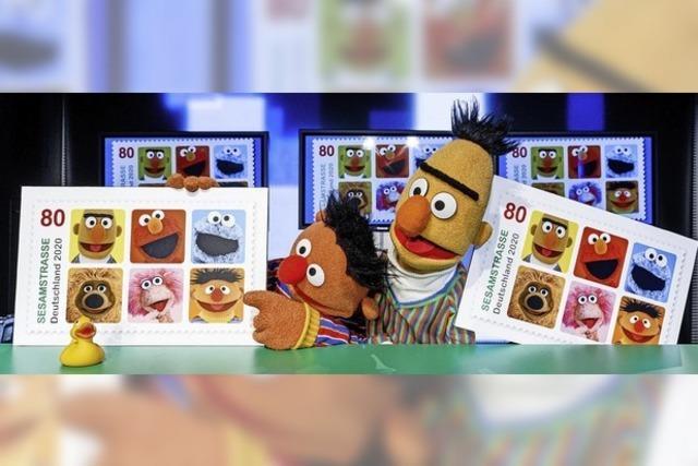 Stars der Sesamstraße bekommen eine Sonderbriefmarke