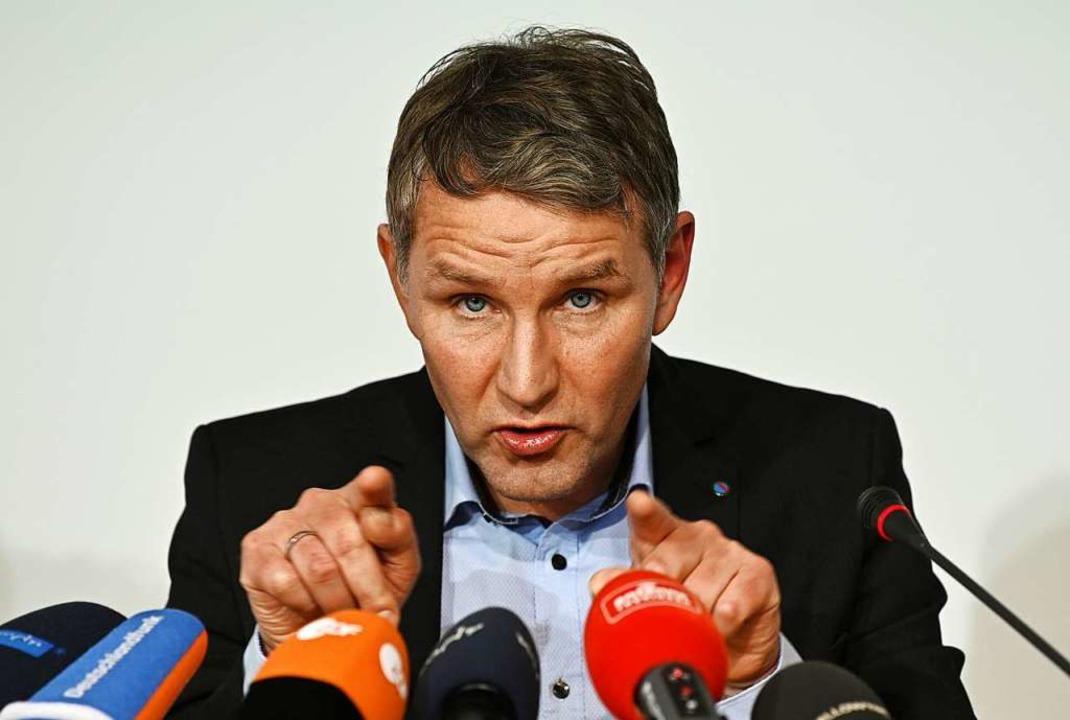 Die Thüringer AfD schickt ihren Landes...ie Ministerpräsidentenwahl am 4. März.    Foto: Martin Schutt (dpa)