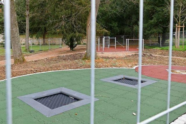 Im Lörracher Rosenfelspark entsteht ein Spielplatz für jedes Alter