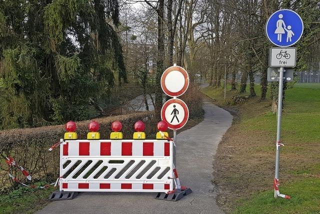 Klostermattenweg gesperrt