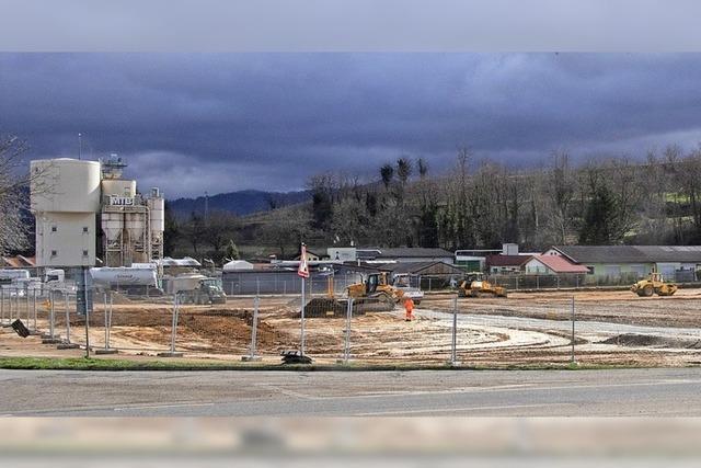 Bau des Gewerbegebiets geht voran