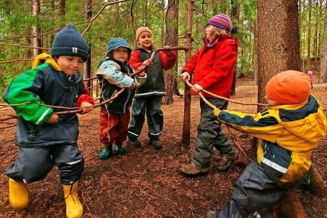 Der Waldkindergarten in Steinen befindet sich im Probebetrieb