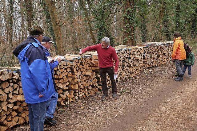 20 Doppelster Brennholz kamen unter den Hammer