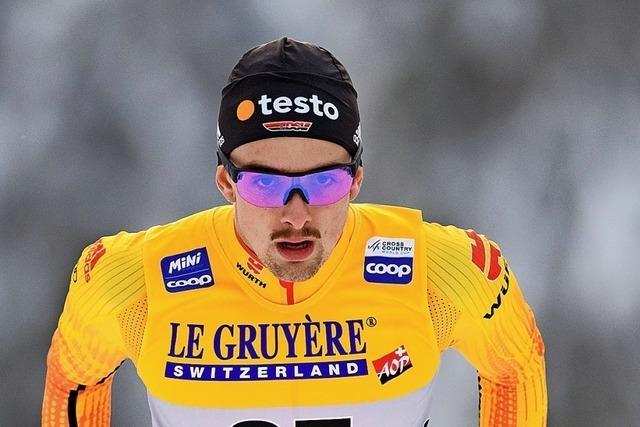 Janosch Brugger läuft knapp vorbei an der Medaille