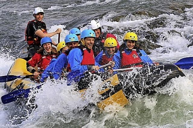 Rheinraft, Rafting in der Region