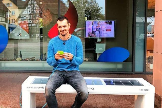 Solar-Ladestation für Smartphones in der Ortsmitte Gundelfingen bleibt stehen