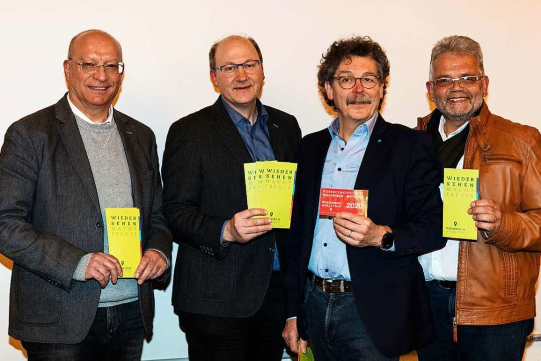 Der neu gewählte Vorstand der Werbegem...rd Steinhart und Uwe Klos (von links).  | Foto: Gabriele Zahn