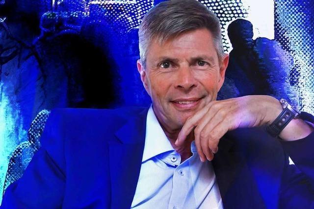 Das Portrait des Ex-Bürgermeisters ist ein Novum im Schopfheimer Rathaus