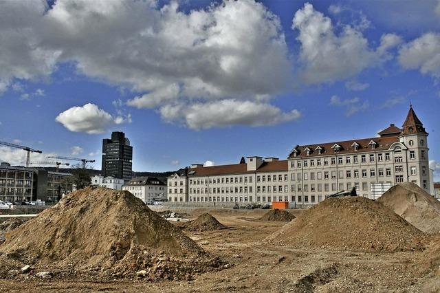 Baustelle auf dem Areal Weberei Conrad