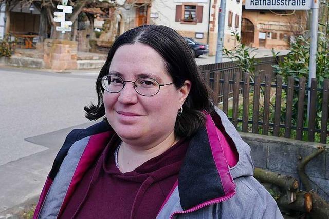 Marina Ertel erlebt einen einsamen Wahlkampfauftakt in Kandern