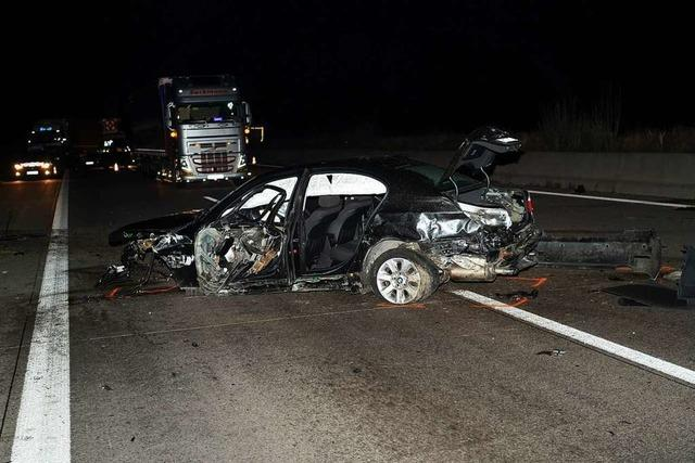 A5 Richtung Karlsruhe war nachts mehrere Stunden gesperrt – drei Verletzte