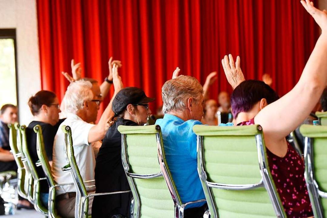 Abstimmung im Lörracher Gemeinderat  | Foto: Jonas Hirt