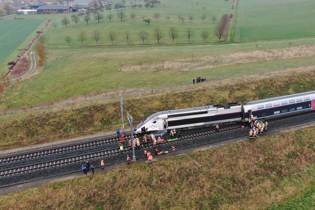 TGV-Zug rast bei Straßburg in abgerutschten Damm – Zugführer schwer verletzt