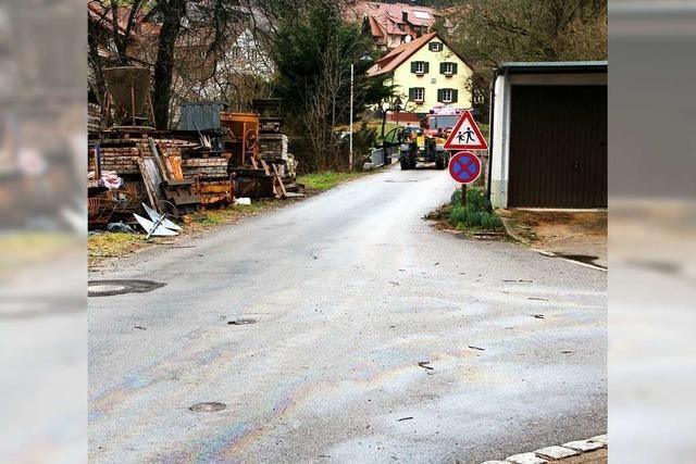 Straßensperrung in Malsburg-Marzell wegen Ölspur ist aufgehoben