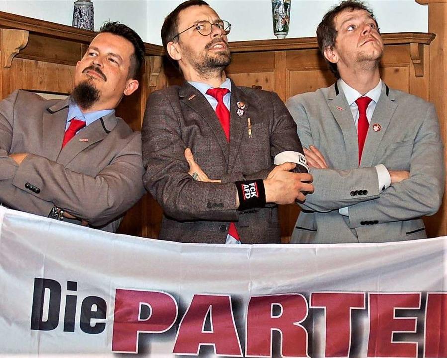 Die Führungsspitze des Lahrer Ortsverb...l Furrer, Chris Mehnert und Marco Kipp  | Foto: Wolfgang Beck