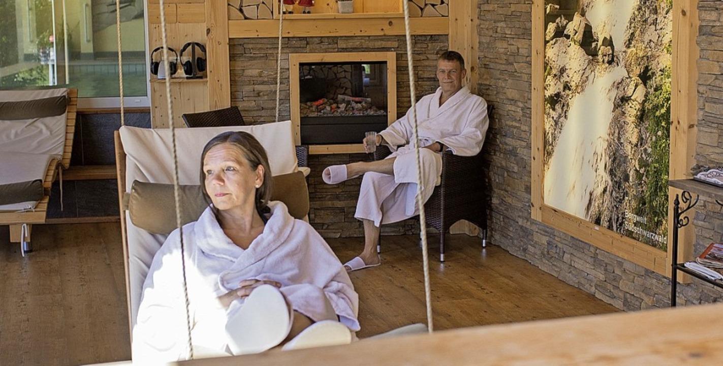 Stunden der Entspannung im Spa-Bereich genießen   | Foto: Waldhotel am Notschreipass