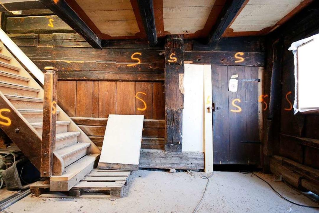 So sah der Treppenbereich vor dem Sandstrahlen aus.  | Foto: Christian Schwär
