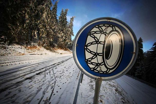 Viele Unfälle auf Schnee am Feldberg