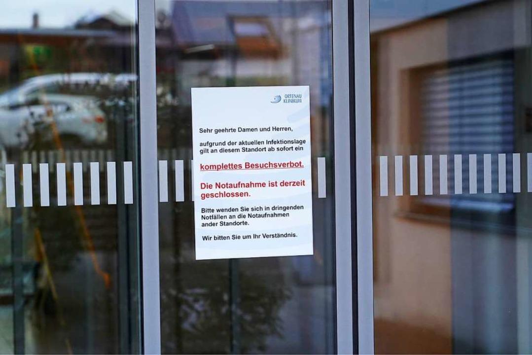 Komplettes Besuchsverbot im Kehler Ortenau Klinikum  | Foto: Benedikt Spether