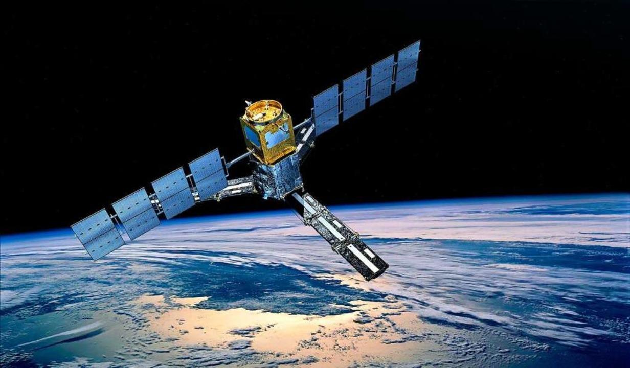 Eine Illustration des Satelliten SMOS,...s Festlandes auf der Erde messen soll.    Foto: dpa