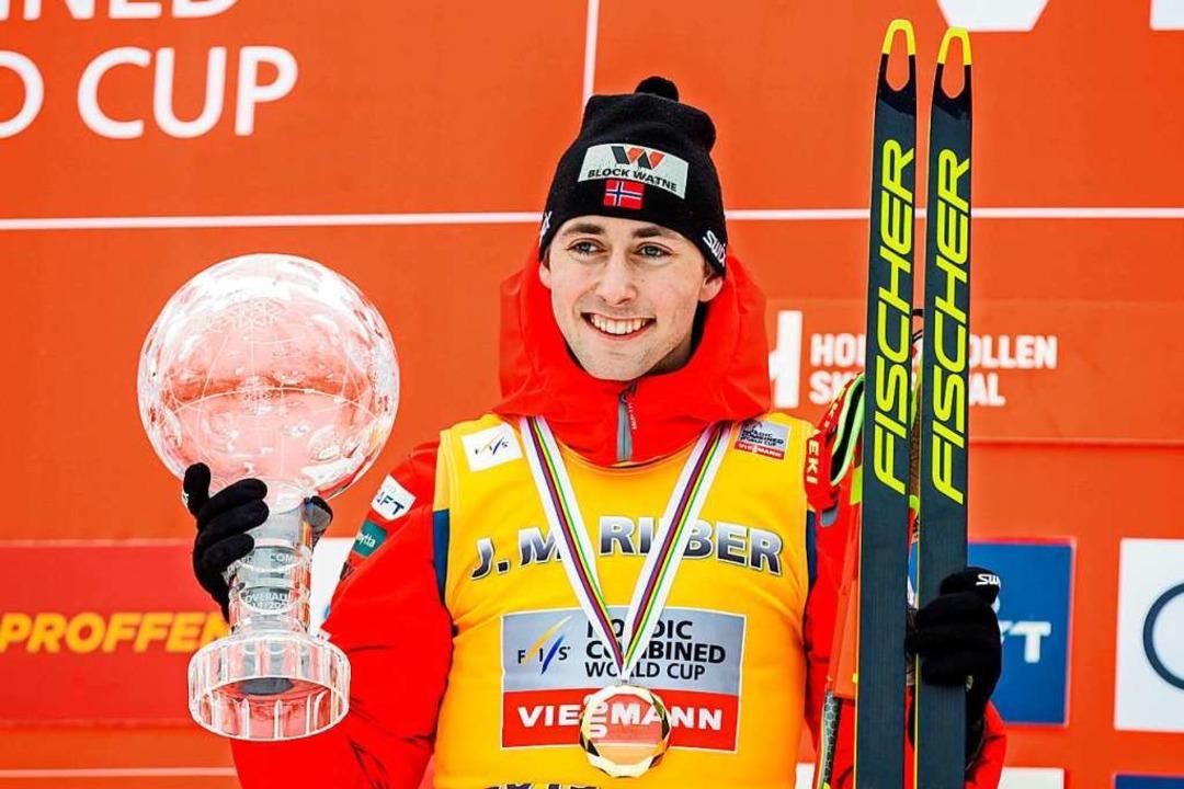 22 Jahre jung und schon außergewöhnlic...reich: Jarl Magnus Riiber aus Norwegen  | Foto: VIDAR RUUD (AFP)