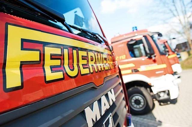 Papier brennt in Laufenburg aus noch unbekannten Gründen