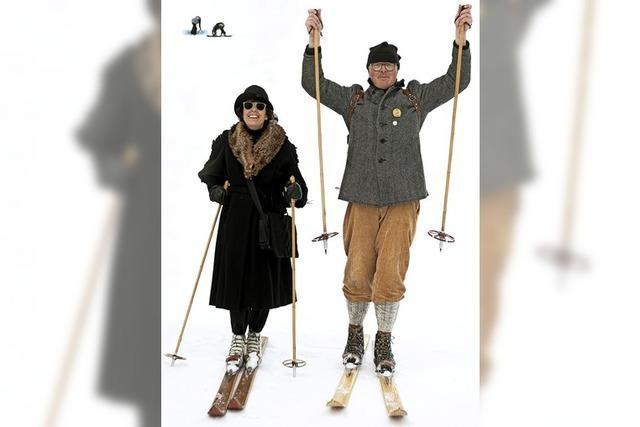 Skifahren wie anno dazumal