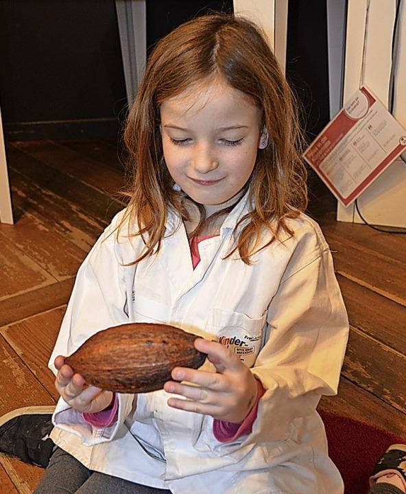 Der Ausgangspunkt ist eine Kakaobohne.    Foto: Anita Fertl