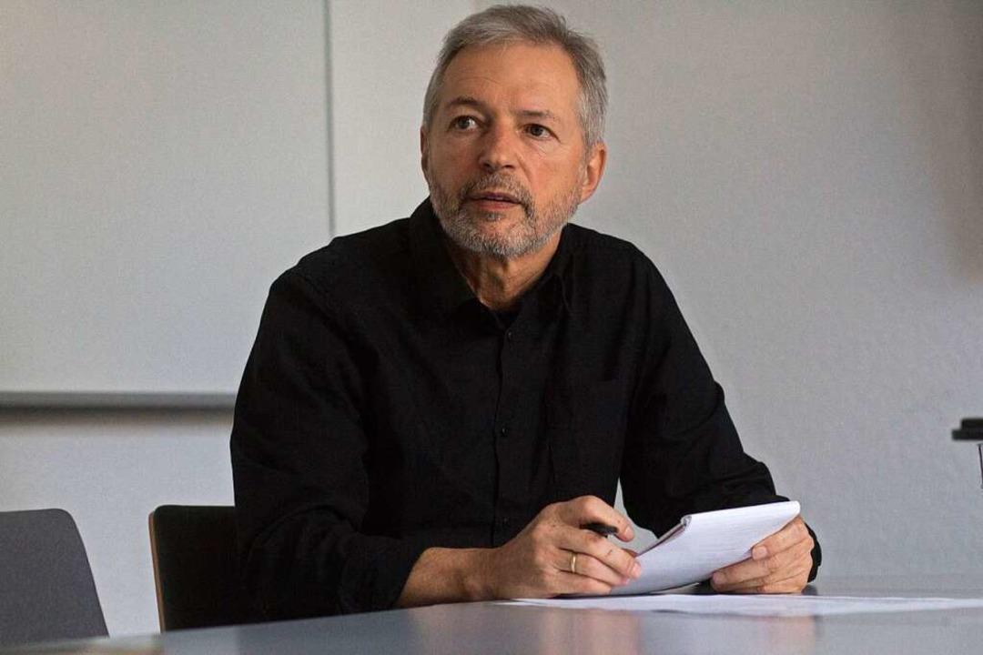 """""""Ich weiß viele Dinge, die man g...erview in der BZ-Redaktion Emmendingen    Foto: Patrik Müller"""