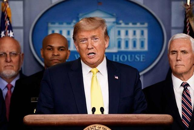 Trump kündigt Maßnahmen gegen ökonomische Folgen von Corona-Krise an