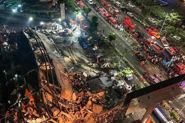 Einsturz von Quarantäne-Hotel in China: Zahl der Toten steigt auf 18