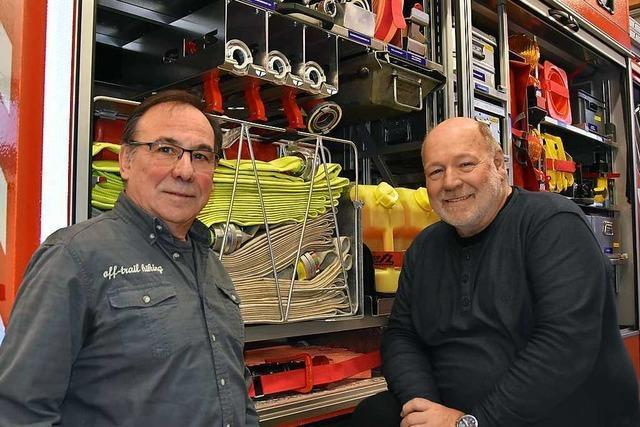 Zwei Männer, die 50 Jahre die Pfaffenweiler Wehr geprägt haben