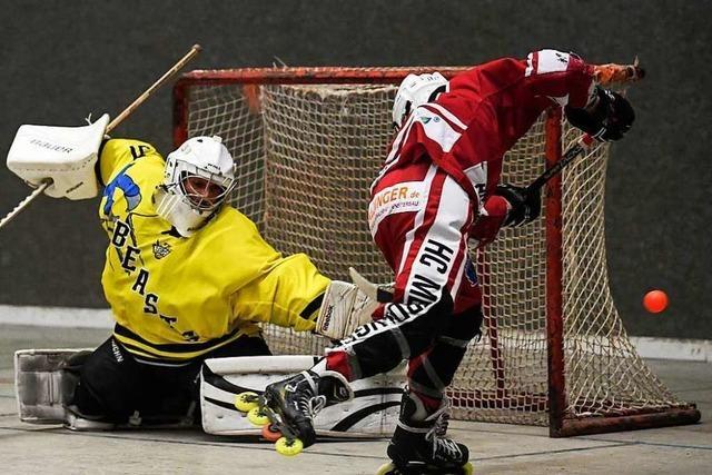 HC Merdingen gewinnt Derby im Inline-Skaterhockey bei den Freiburg Beasts